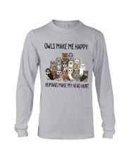 Owls Make Me Happy Long Sleeve Tee thumbnail