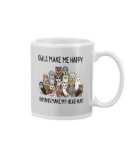 Owls Make Me Happy Mug thumbnail