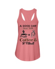 A Good Day Starts With Pitbull and Coffee Ladies Flowy Tank thumbnail