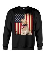 Golden Retriever Flag Crewneck Sweatshirt thumbnail