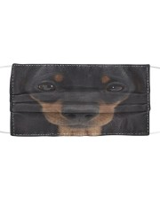 Dachshund Face Cloth face mask front