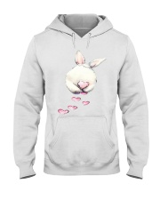 Rabbit Bunny Heart  Hooded Sweatshirt thumbnail