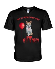 Cat Halloween Kitten V-Neck T-Shirt thumbnail