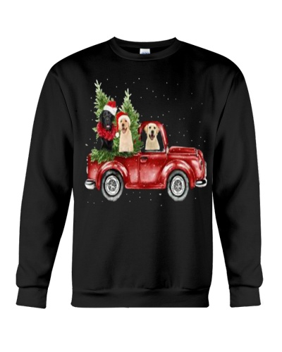 Labrador Christmas Car