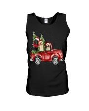 Labrador Christmas Car Unisex Tank thumbnail