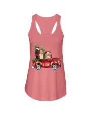 Labrador Christmas Car Ladies Flowy Tank thumbnail
