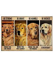 Golden Retriever Badass 17x11 Poster front