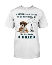 Woman Needs A Boxer Classic T-Shirt tile