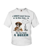 Woman Needs A Boxer Youth T-Shirt tile