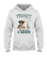 Woman Needs A Boxer Hooded Sweatshirt thumbnail