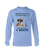 Woman Needs A Boxer Long Sleeve Tee thumbnail