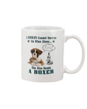 Woman Needs A Boxer Mug tile