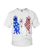 Golden Retriever Flag Youth T-Shirt thumbnail