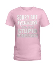 Pitbull Thinks You're Stupied Ladies T-Shirt thumbnail