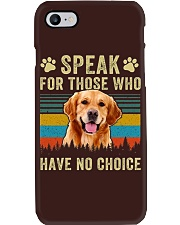Golden Speak No Choice Phone Case thumbnail