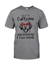 Golden Retriever caffeine Classic T-Shirt front
