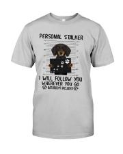 Dachshund Stalker Classic T-Shirt front