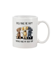 Dogs Make me Happy Mug thumbnail