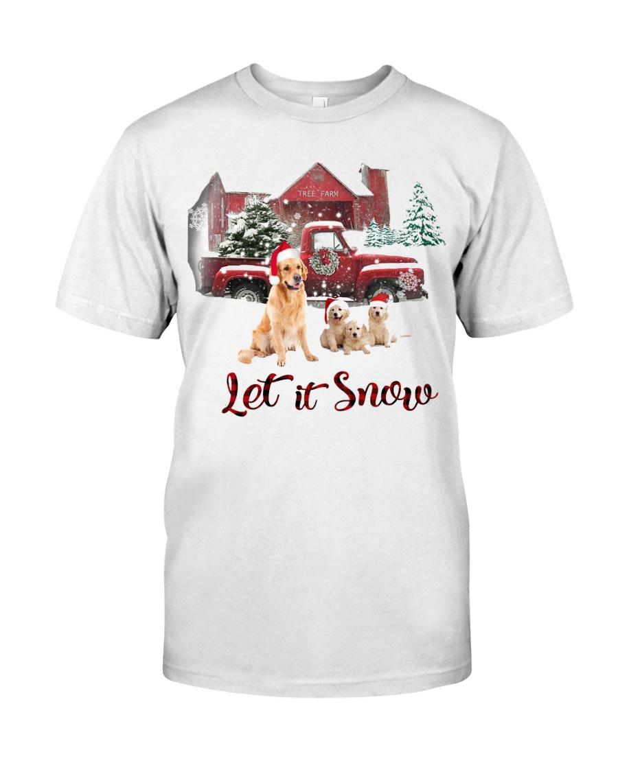 GOLDEN RETRIEVER LET IS SNOW Classic T-Shirt