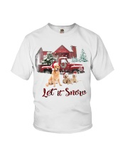 GOLDEN RETRIEVER LET IS SNOW Youth T-Shirt thumbnail