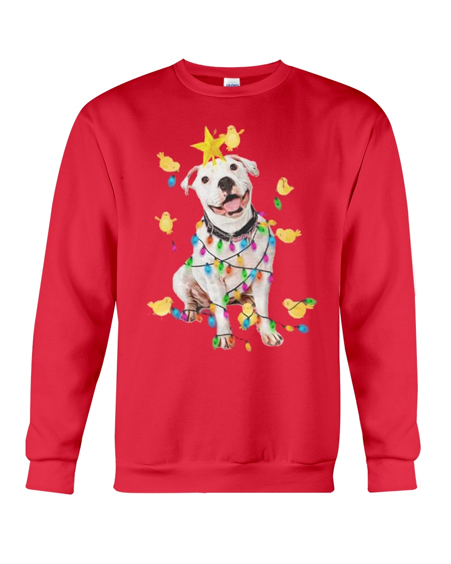 New Pitbull Christmas Crewneck Sweatshirt