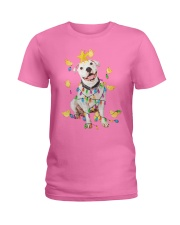 New Pitbull Christmas Ladies T-Shirt thumbnail