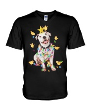 New Pitbull Christmas V-Neck T-Shirt thumbnail
