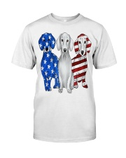 Dachshund Flag Classic T-Shirt front