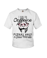 Pitbull Hair and caffeine Youth T-Shirt tile