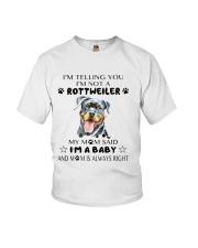 I'm Not Rottweiler i'm a Baby Youth T-Shirt thumbnail