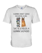 Woman Need German Shepherd V-Neck T-Shirt thumbnail