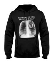 German Shepherd X-ray Of My Heart Hooded Sweatshirt front