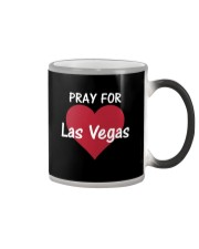 Pray for Las Vegas Big Heart T-Shirt Color Changing Mug tile