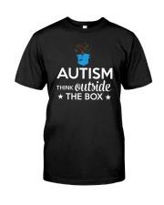 Autism Think outside the box T-Shirt Classic T-Shirt thumbnail