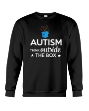 Autism Think outside the box T-Shirt Crewneck Sweatshirt thumbnail