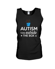 Autism Think outside the box T-Shirt Unisex Tank thumbnail