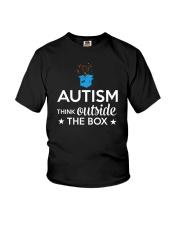 Autism Think outside the box T-Shirt Youth T-Shirt thumbnail