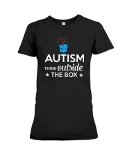 Autism Think outside the box T-Shirt Premium Fit Ladies Tee thumbnail