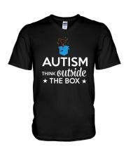 Autism Think outside the box T-Shirt V-Neck T-Shirt thumbnail