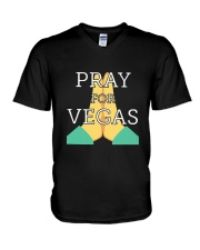PRAY FOR VEGAS Shirts V-Neck T-Shirt thumbnail