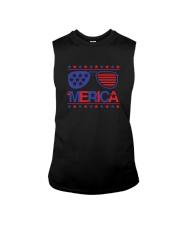 American Flag Sunglasses T-Shirt Sleeveless Tee thumbnail
