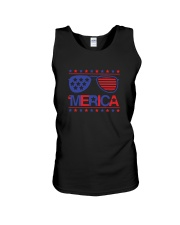 American Flag Sunglasses T-Shirt Unisex Tank thumbnail