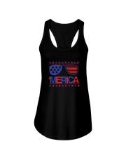 American Flag Sunglasses T-Shirt Ladies Flowy Tank thumbnail