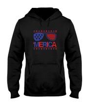 American Flag Sunglasses T-Shirt Hooded Sweatshirt thumbnail