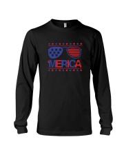 American Flag Sunglasses T-Shirt Long Sleeve Tee thumbnail