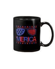 American Flag Sunglasses T-Shirt Mug thumbnail