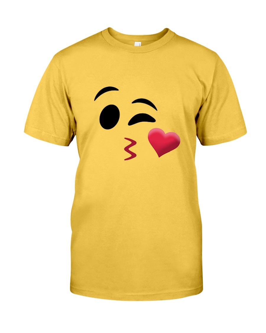 Halloween Emoji Kiss Shirt Classic T-Shirt