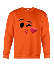 Halloween Emoji Kiss Shirt Crewneck Sweatshirt thumbnail