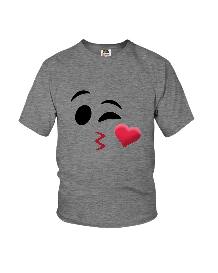 Halloween Emoji Kiss Shirt Youth T-Shirt