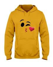 Halloween Emoji Kiss Shirt Hooded Sweatshirt thumbnail